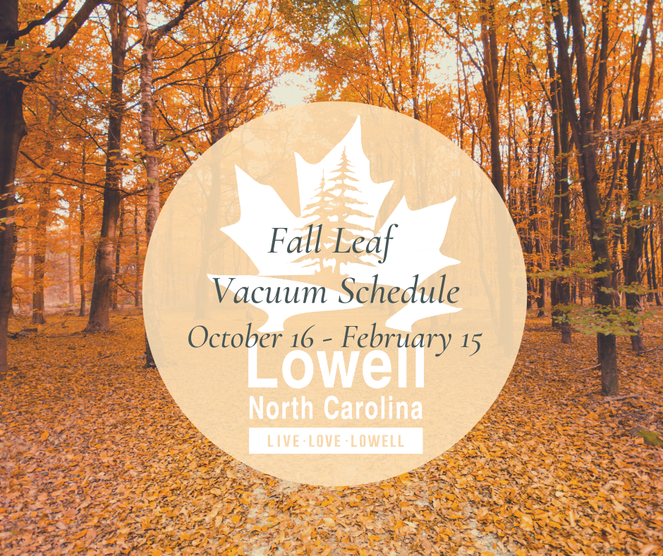 Fall Leaf Vacuum Schedule